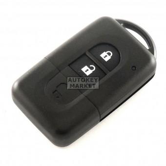 Корпус за смарт ключ за Nissan с 2 бутона