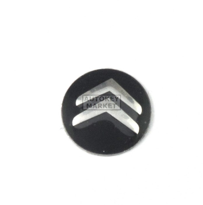 Citroen Key Sticker 14mm Metal